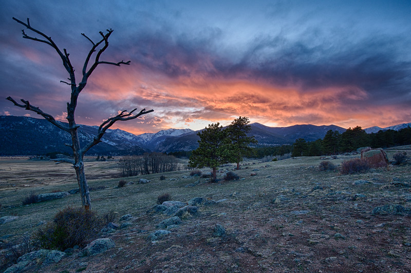 """Rocky Mountain Sunset - 13 April 2017"""