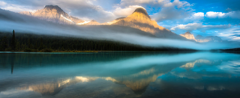 Reflections on Waterfowl Lake