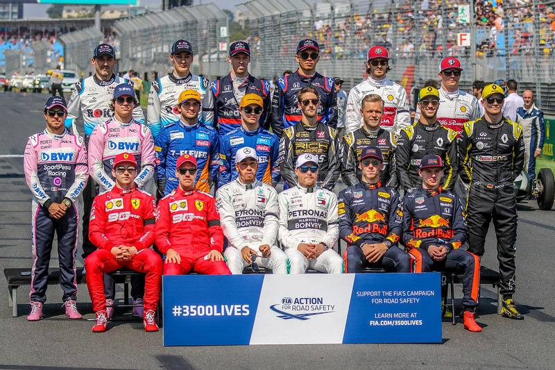 2019 Rolex Australian Grand Prix - Drivers Photograph.