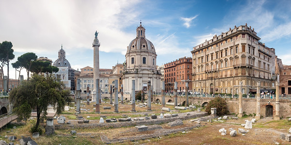 Forum de Trajan, Rome (Format 2:1, Disponible 30/30)