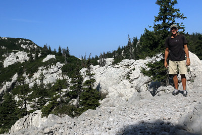 Northern (Sjeverni) Velebit National Park - along the Premuzic Trail of karst limestone and Norway Spruce - the park is named after the largest mountain (Velebit) in the country - located in the Lika/Senj county - Croatia - Balkan Peninsula - Eastern Europe.