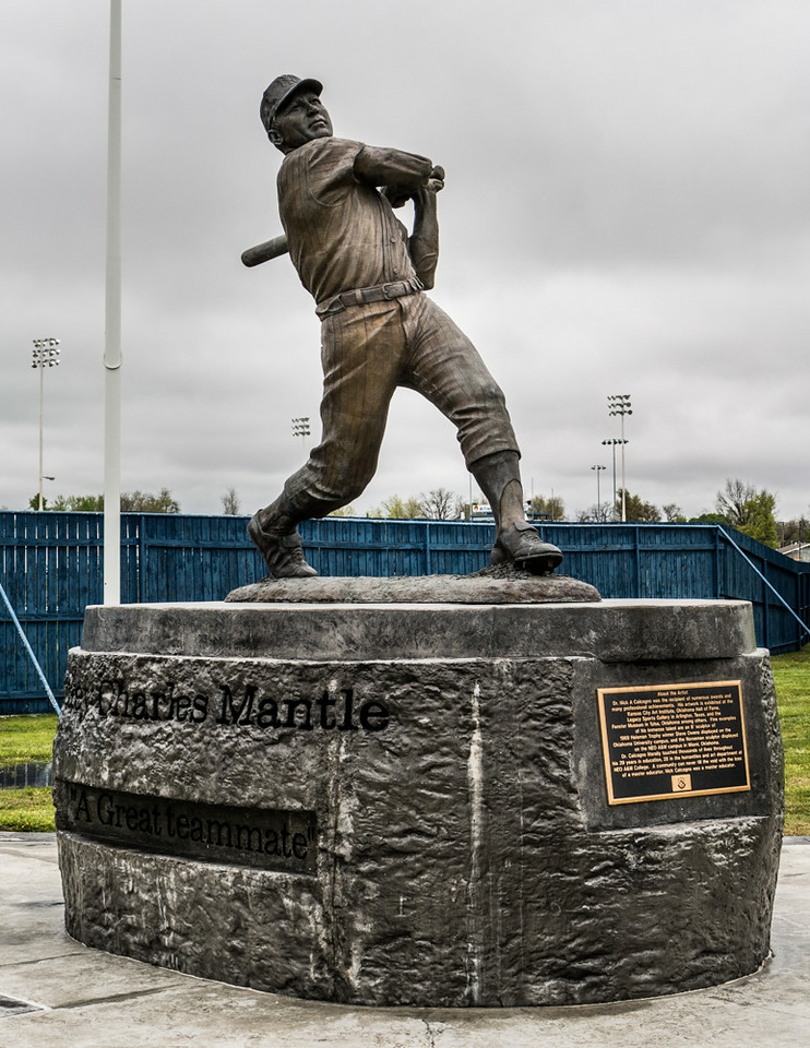 Mickey Mantle Statue & Monument
