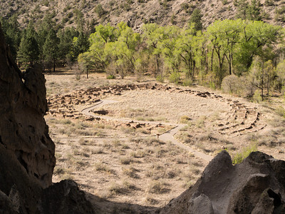 Native American Ruins in Bandalero National Monument in New Mexico