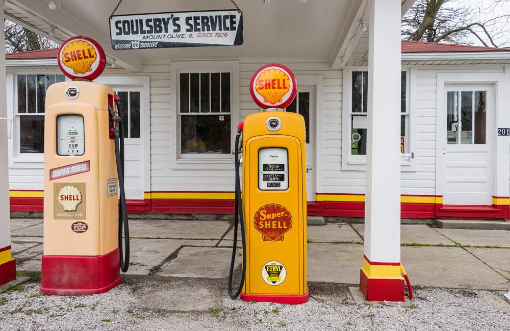 Soulsby's Service Station on Historic Route 66 in Mt. Olive, IL