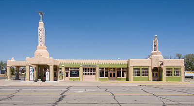 The Tower Station & U-Drop In Cafe in Shamrock Texas on Historic Route 66