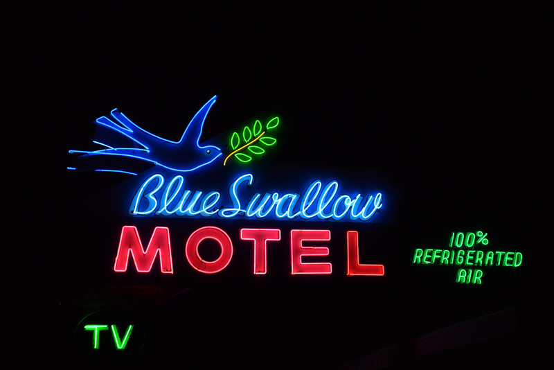 Neon très bien conservé, Tucumcari