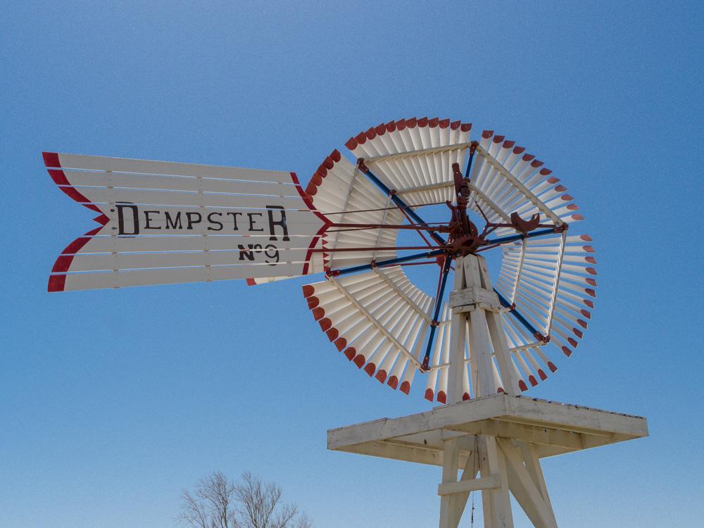 Historic Windmills in Clinton Oklahoma