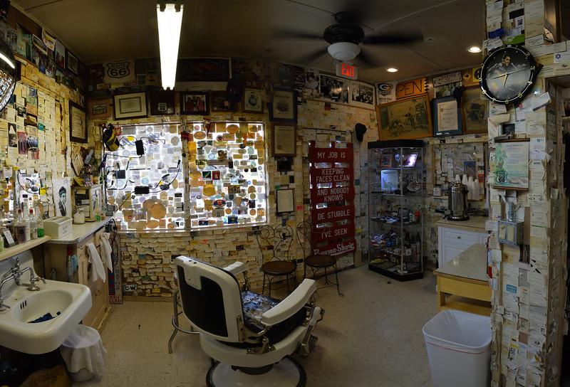 Angel Delgado's barber shop, Seligman