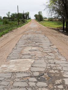 "Original 9 Ft. Pavement of Route 66 west of Miami, OK is called ""The Sidewalk"""