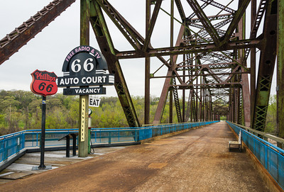 Chain of Rocks Bridge over the Mississippi River