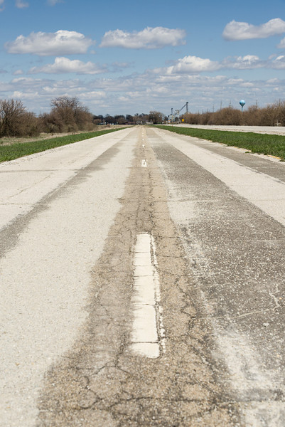 Original Historic Route 66 Outside of Pontiac, IL
