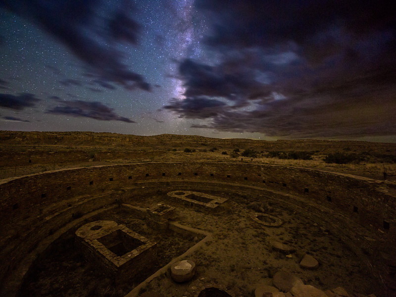 Chetro Ketl Kiva and Cloudy Milky Way, Chaco Culture National Historical Park, NM