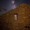 Pueblo Del Arroyo and Milky Way, Chaco Culture National Historical Park, NM