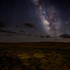 Pueblo Bonito from Mesa Overlook with Milky Way, Chaco Culture National Historical Park, NM