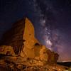 Wukoki Pueblo and Milky Way, Wupatki National Monument, AZ