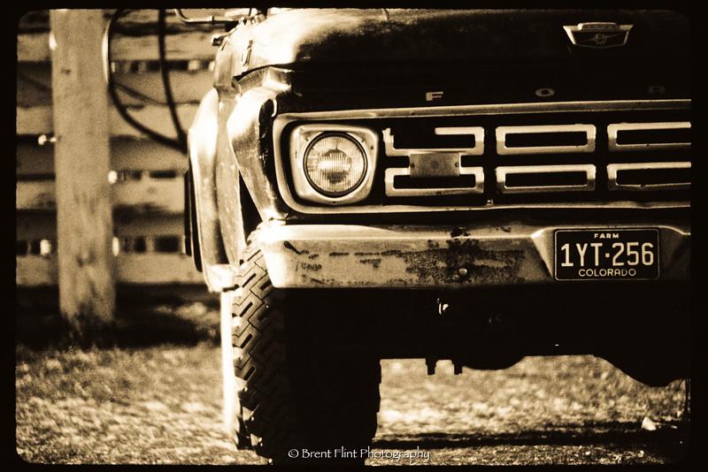 DF.1188 - old farm truck, Castle Rock Rodeo, Douglas County, CO.