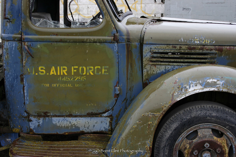 "DF.439 - ""Official Use"" - old military truck, Sandpoint, ID."