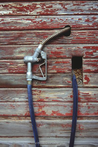 S.4929 - nozzle on old pumphouse along Twin Lakes Rd., Kootenai County, ID.