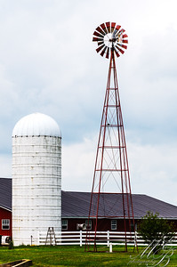Silo and Windmill Rural Jamestown, OH