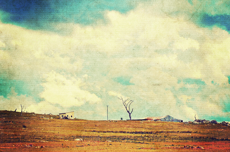 Vintage Rural Cloudscape
