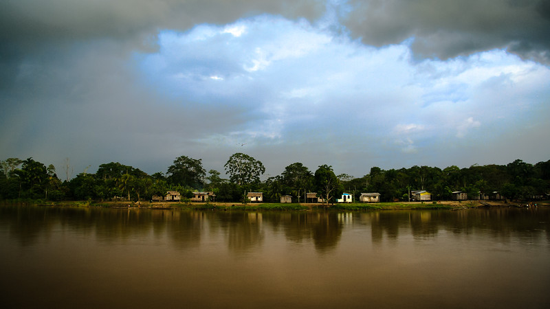 Huts on the Banks of the Amazon