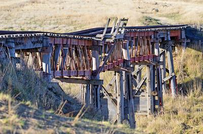 Historic abandoned railway bridge