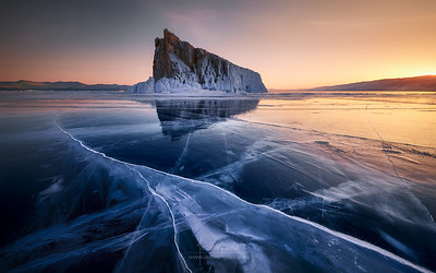 Baikal's Lake Sunset