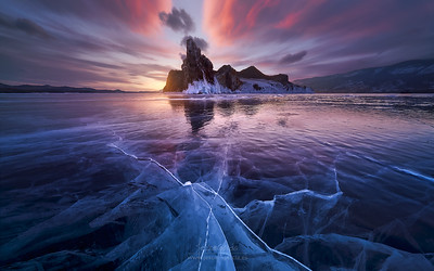 Ice and Fire III in Baikal Lake