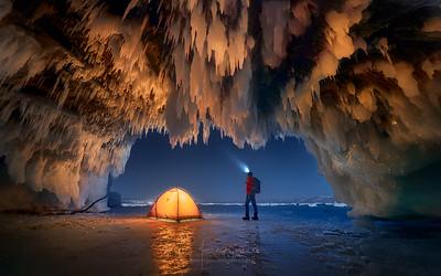 Baikal Lake Ice Cave