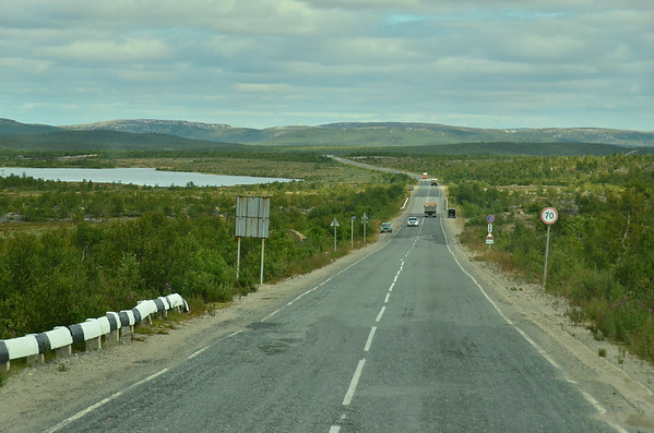 Main road at Nikel, Kola Peninsula