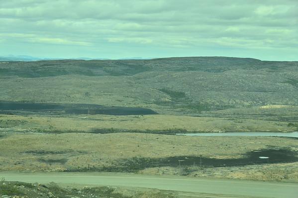 Destruction by metal works, Nikel, Kola Peninsula