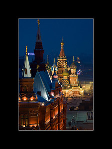 St. Basil's at night