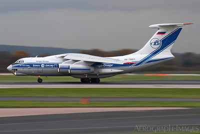 "Reg:  RA-76511Operator:  Volga-Dnepr AirlinesType:  Ilyushin IL-76TD-90VD  C/n:  2123422752 / 94-08Location:  Manchester - Ringway (MAN / EGCC), UK""VDA4987"" decelerates on Manchester's runway 05L, arrriving from Frankfurt-Hahn on a dull afternoon Photo Date:  24 November 2013Photo ID:  1300845"