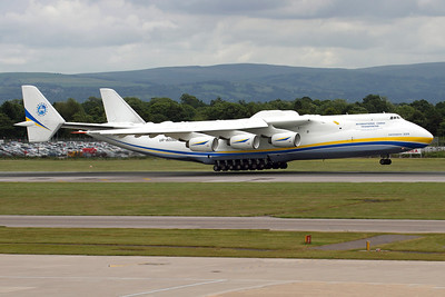 Reg: UR-82060 Operator: Antonov Airlines - Antonov Design Bureau Type:  Antonov An-225 Mriya		   C/n: 19530503763 / 01-01 Location:  Manchester - Ringway (MAN / EGCC) - UK        Photo Date: 24 June 2013 Photo ID: 1300703