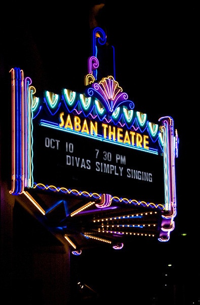 The Saban Theatre (formerly the Wilshire Theatre) in Beverly Hills.
