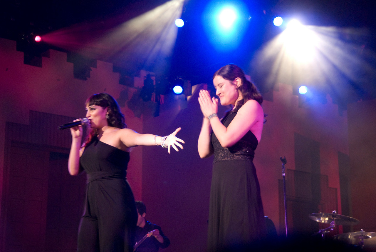 """Eden with guest Paula Cole.  Eden sang Paula's song """"Me"""", an inspiration for the concert theme.  Paula sang a selection of her songs at the piano."""