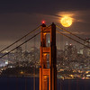 Bridge to the Moon San Francisco, CA   A full moon rises over the San Francisco skyline.