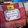 Signs at Occupy LA movement going on at City Hall Los Angeles Calif. Sunday Oct. 23, 2011. Photo: Jose Romero