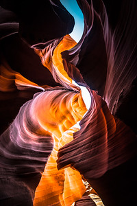 Fire on the Wall | Lower Antelope Canyon, Page, AZ