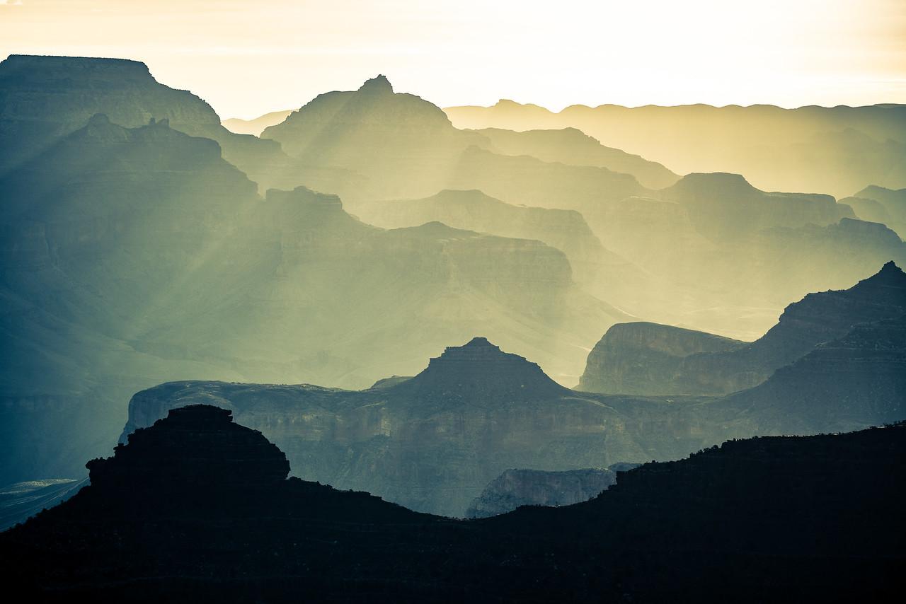 Gold and Blue | South Rim Grand Canyon, AZ
