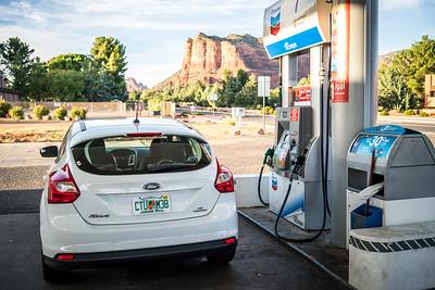 Gas Station View | Sedona, AZ