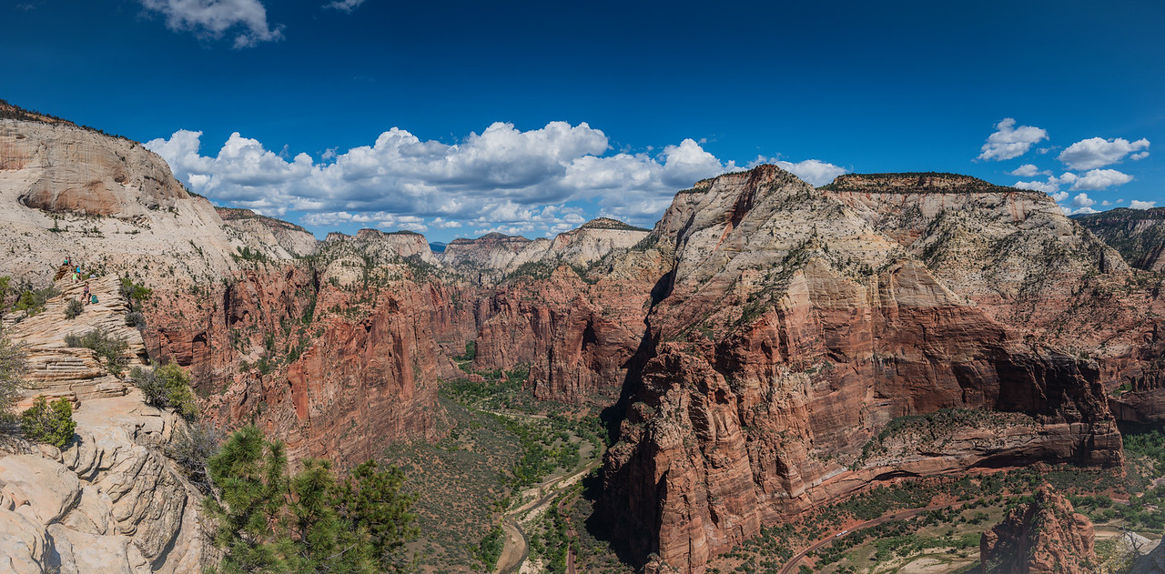 Looking Towards Touchstone Wall from Angels Landing | Zion National Park, UT