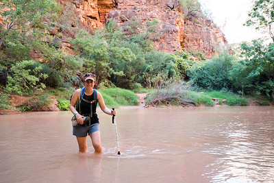 Stream Crossing On the Hike to Beaver Falls | Havasupai Indian Reservation, AZ