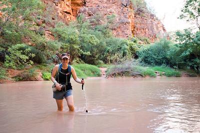 Stream Crossing On the Hike to Beaver Falls | Havasupai Indian Reservation, AZ