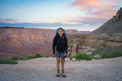 Rachel at Start of Hike to Havasu Falls | Hualapai Hilltop, AZ