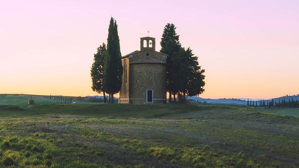 Twilight at Vitaleta | Tuscany, Italy