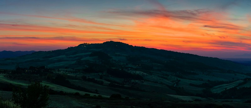 Then, the sun goes down | Val di Cecina, Tuscany