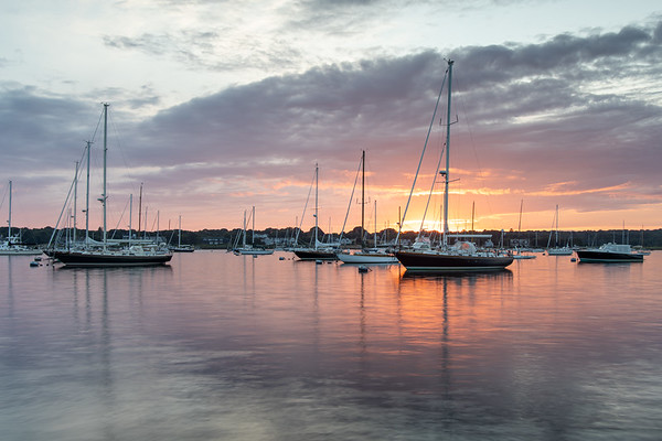 Stonington Harbor August Sunset