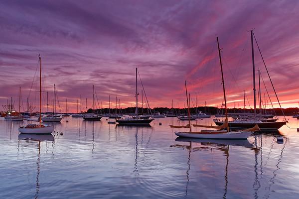 Stonington Harbor Sunset