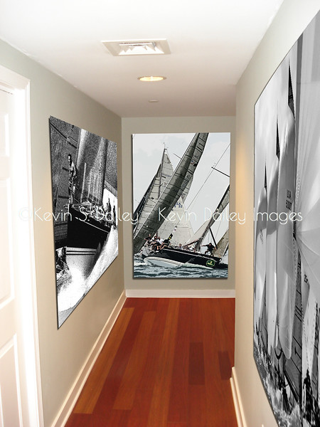 Sailing images in a gallery - metal prints